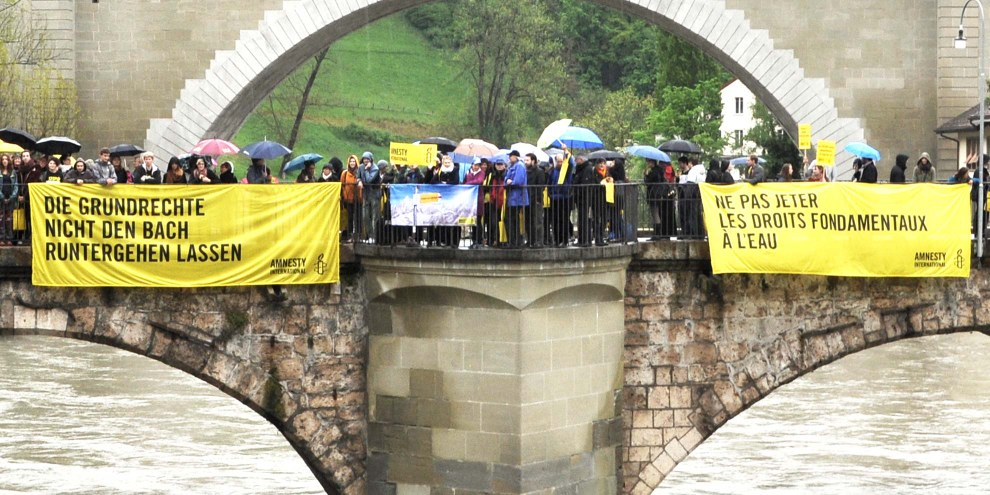 L'initiative de l'UDC s'attaque directement à la Convention européenne des droits de l'homme, la meilleure protection dont dispose les citoyens contre les violations des droits fondamentaux en Suisse. © Amnesty International