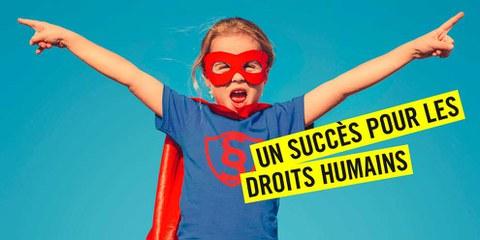 Les Suisses et les Suissesses défendent les droits humains
