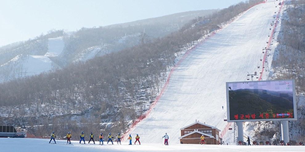 La Corée du Nord a massivement investi dans une station de ski au Masikryong, inaugurée en 2014. © Uri Tours / Creative Commons
