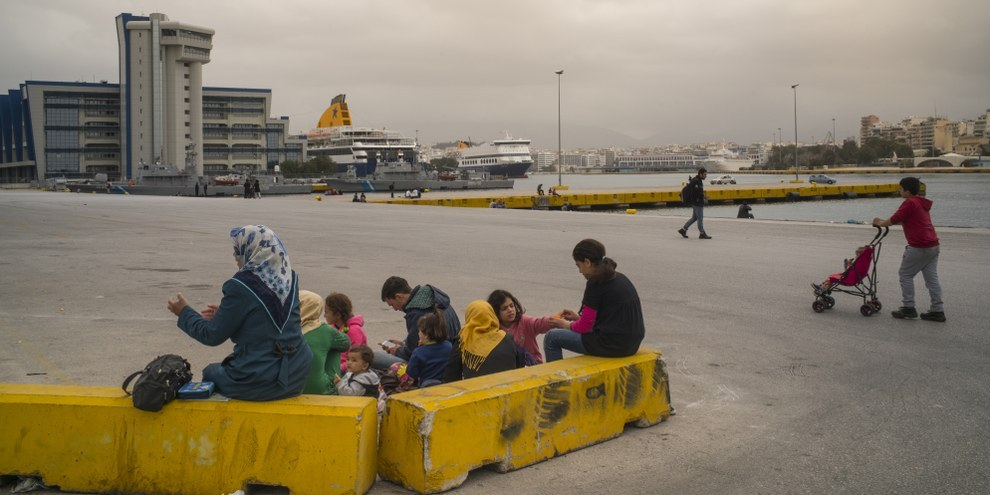 En 2016, la Suisse figure à nouveau en tête du classement des États qui effectuent le plus de renvois Dublin. © Amnesty International / Olga Stefatou