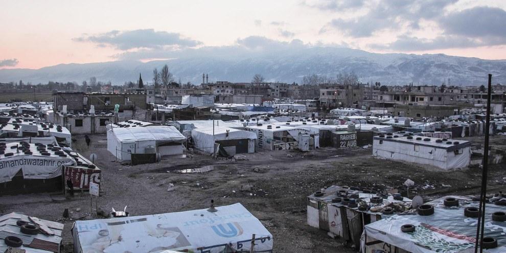 Les pays limitrophes absorbent la majorité du flux de réfugié·e·s. C'est le cas notamment au Liban, qui accueille des Syrien·ne·s fuyant le conflit. © Ali/Syrian Eyes