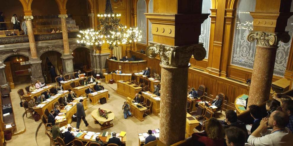 Salle du Conseil des États. © parlament.ch