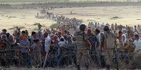 En un mois, près de 200 000 kurdes ont fui les affrontements à Kobani pour se réfugier en Turquie. © DR