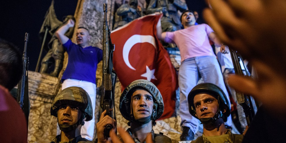 Le président Erdogan a annoncé l'instauration de l'état d'urgence pour une période d'au moins trois mois. © Scott Peterson/Getty Images