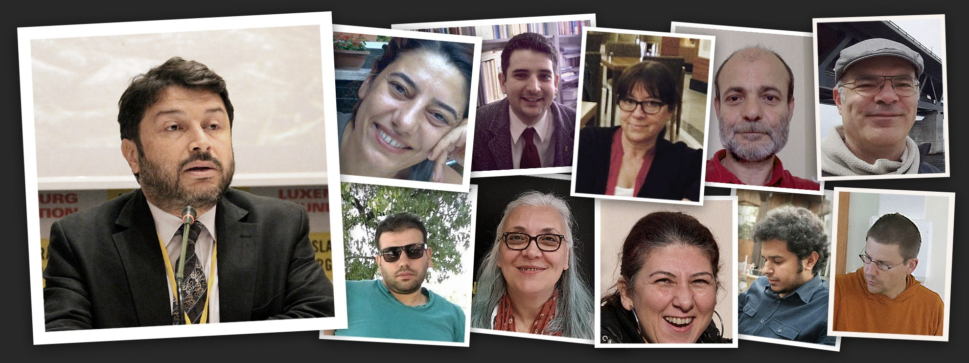 Taner Kiliç, Idil Eser et les autres défenseur·e·s des droits humains.  © Amnesty International