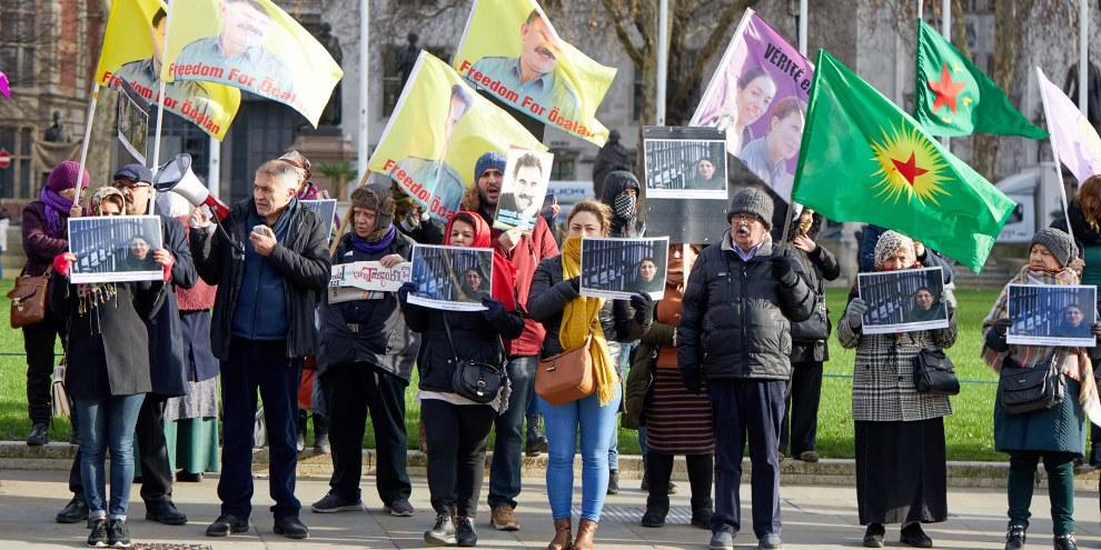 9 janvier 2019. A Londres, manifestation de soutien à la députée Leyla Güven ,en grève de la faim depuis le 7 novembre 2018. © Kevin J. Frost / shutterstock.com