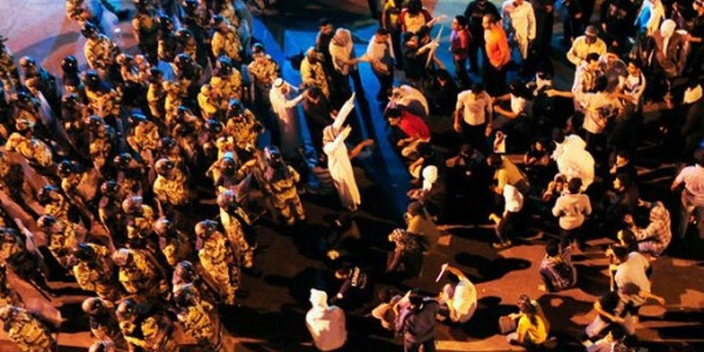 Soulèvement dans le royaume, manifestation du 3 mars 2011 à Awwamiya, Arabie saoudite. © Reuters/Zaki Ghawas