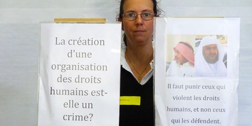 En 2013, Amnesty International avait déjà milité en faveur des défenseurs des droits humains en Arabie Saoudite. © AI