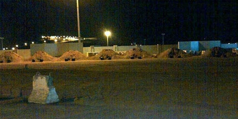 Monticules de sables, mis en place pour des exécutions en Arabie saoudite. © Amnesty International
