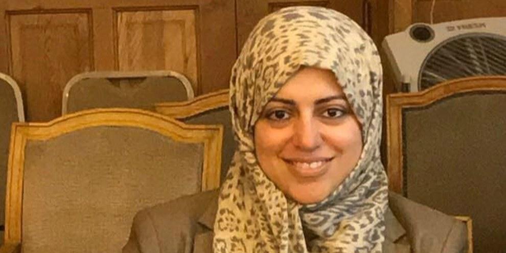 Nassima al-Sada, une des militantes des droits des femmes arrêtées, est toujours détenue sans inculpation. © zvg