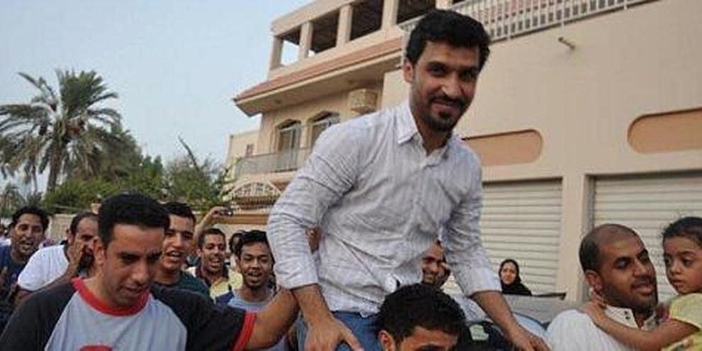 Matar Matar, le jour de sa libération. Il était détenu depuis mai 2011. © DR