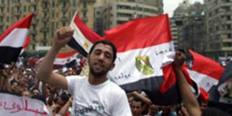 Les manifestations de la place Tahrir, en 2011. © AI