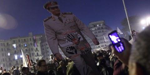 Protestation contre le Conseil militaire égyptien. © Mohamed Ali Eddin/Demotix
