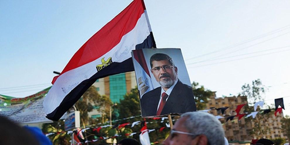 Au Caire, de nombreux sympathisants du président sortant avaient exprimé leur soutien lors du Ramadan. © Spencer Platt/Getty Images