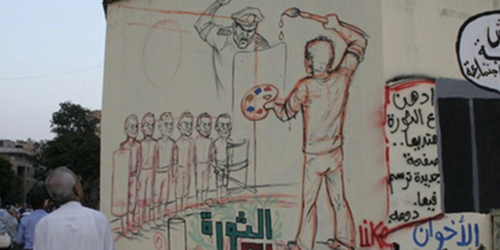 Au Caire, des graffitis condamnent les exactions de la police© AI