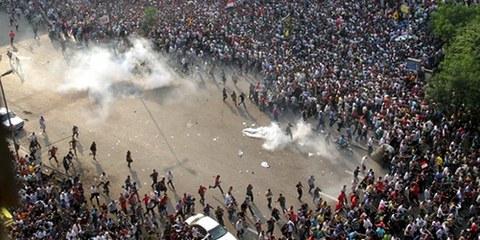 Depuis la destitution de Mohammed Morsi le 3 juillet 2013, ses partisans sont régulièrement pourchassés par le gouvernement et la justice. © AHMED GAMEL/AFP/Getty Images