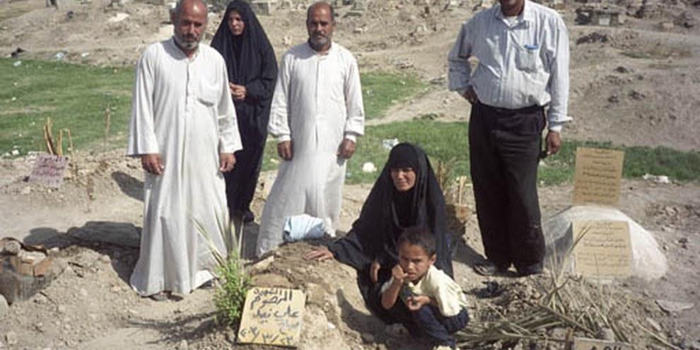 Le nombre de civils tués en Irak depuis le début du conflit est accablant. © AI