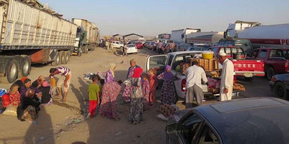 Au nord du pays, des milliers de personnes fuient les zones contrôlées par l'EIIL. © AI