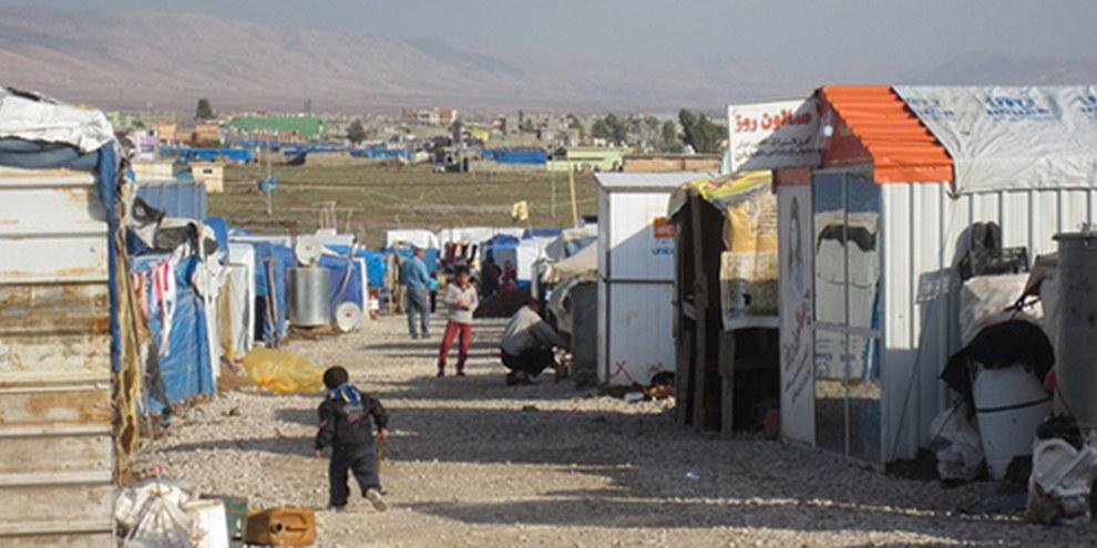 Le camp de Domiz, au Kurdistan irakien, abrite plus de 45 000 réfugiés de Syrie. © AI