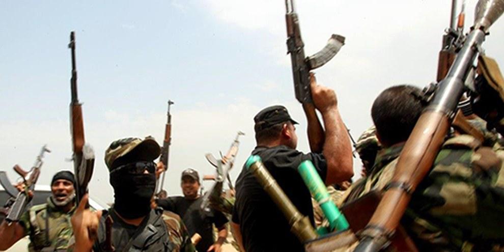Les brigades chiites de Saraya al-Salam («brigades de la paix») commettent des crimes de guerre, en toute impunité. © AFP/ Getty images