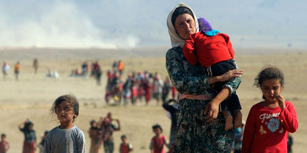 Depuis que l'EI a pris le contrôle de Mossoul, le groupe fait régner la terreur, commettant exécutions, violences sexuelles et torture contre les minorités religieuses et ethniques.  © STRINGER/Reuters/Corbis