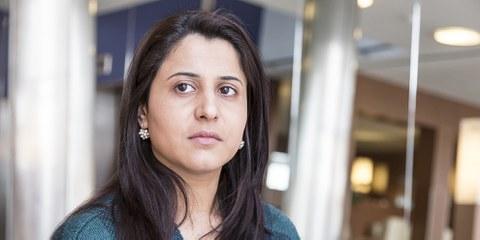 L'activiste, Nareen Shammo a contribué à la libération de centaines de femmes yézidies prisonnières du groupe armé autoproclamé État islamique.© Sarah Bittel