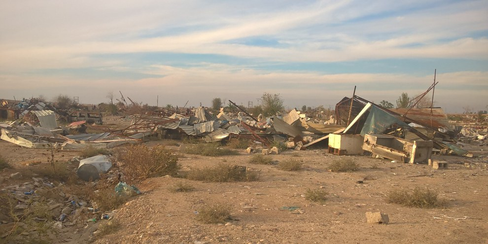 Le village de Maktab Khaled près de Kirkuk a été rasé. © Amnesty International