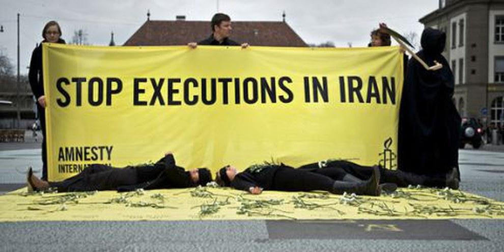 Action Amnesty à Bern. © AI