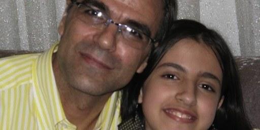 L'époux de Nasrin Sotoudeh, Reza Khandan, et leur fille de 12 ans, Mehraveh, sont frappés d'une interdiction de voyager. © DR