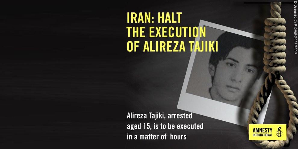 Action urgentes sur Twitter afin de stopper l'exécution d'Alireza Tajiki. © Droits réservés.