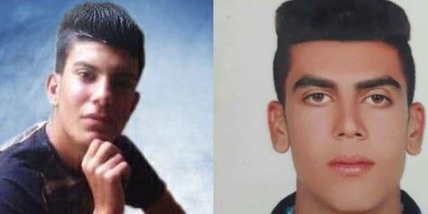Mehdi Sohrabifar et Amin Sedaghat, deux cousins de 17 ans, ont été exécutés le 25 avril en Iran. © AI