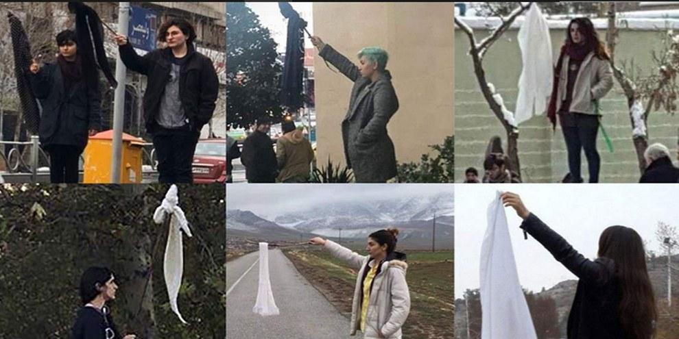 Les iraniennes filment la violence qu'elles subissent lorsqu'elles défient la loi sur le port du voile et la partagent sur les réseaux sociaux.© Droits réservés