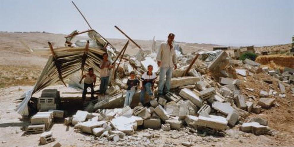 Maison démolie dans le Néguev