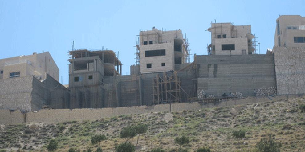 Construction dans les territoires occupés palestiniens. © AI