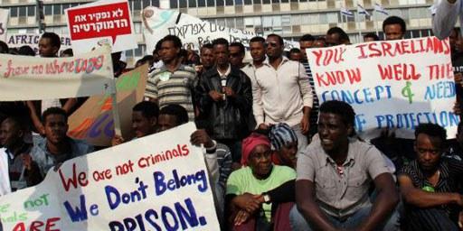Le gouvernement israélien prévoit la construction de nouveaux centres de détention pour migrants. © Alessandro Di Maio / Demotix