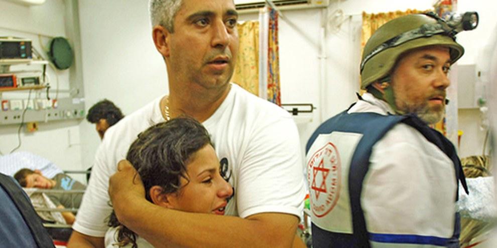 Les attaques de roquettes plongent des familles dans la douleurs, tant du côté palestinien qu'israélien. © APGraphicsBank