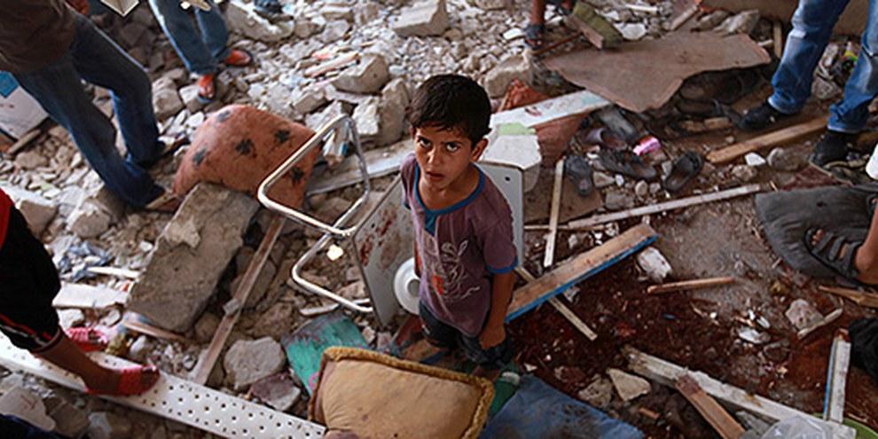 Les forces israéliennes ont tué des dizaines de civils palestiniens dont de nombreux enfants dans des attaques menées contre des habitations. © EPA