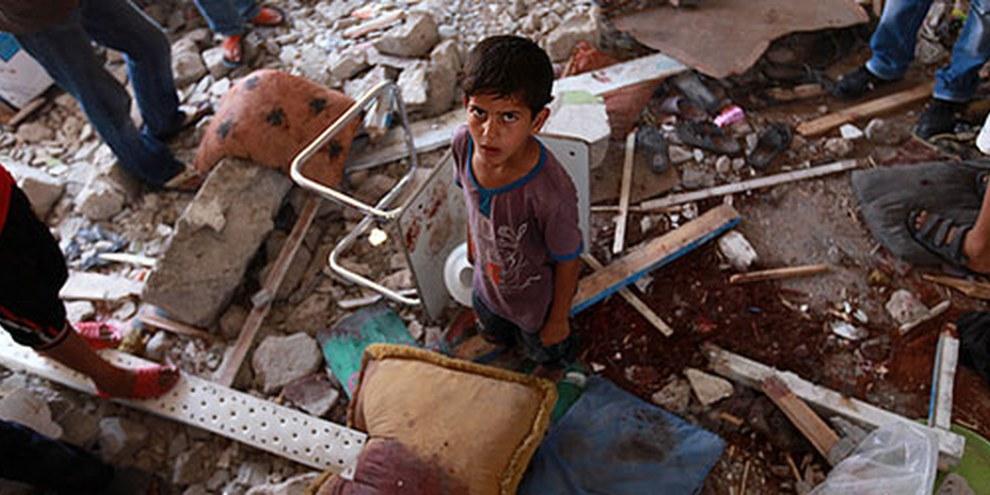 L'école aurait été touchée par des tirs d'artillerie israéliens. © EPA