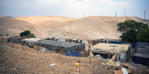 La Cour suprême israélienne a approuvé la destruction du village de Khan al-Ahmar, elle baffoue ainsi le droit international. © Amnesty International (Photo: Richard Burton)