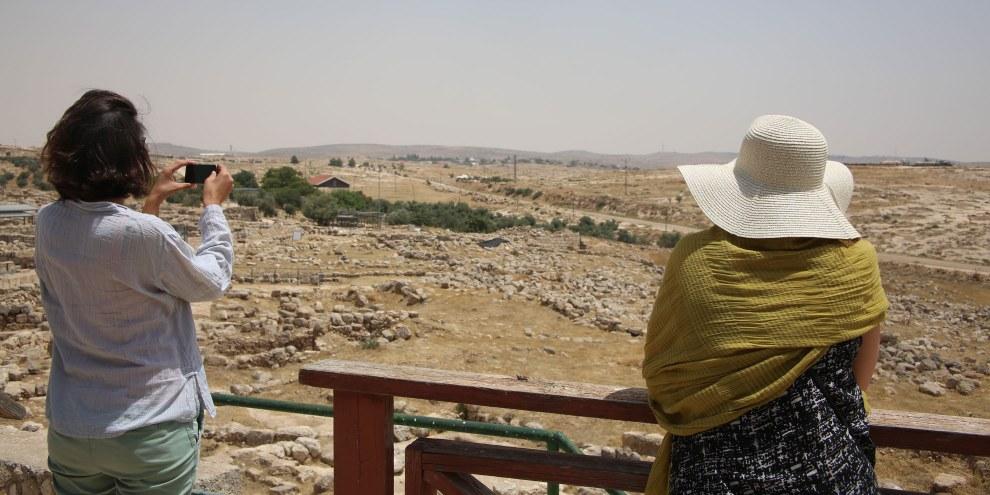 Le gouvernement israélien a expulsé de force des centaines de Palestiniens pour transformer les ruines anciennes de Susya/Susiya, dans le sud de la Cisjordanie, en une attraction touristique et un établissement touristique. © Amnesty International