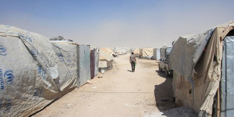 Le camp de refugiés Zaatari en Jordanie accueille plus de 120'000 réfugiés syriens. © Amnesty International