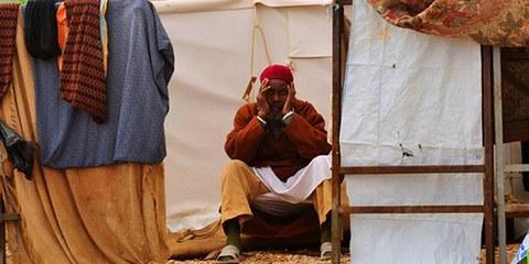 La population de la ville de Tawargha vit toujours dans des camps disséminés dans le pays, comme ici à Benghazi. © REUTERS/Esam Al-Fetori