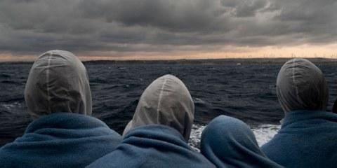 La peur d'être expulsé vers la Libye - les réfugiés en route pour l'Italie. © 2017 SOPA Images