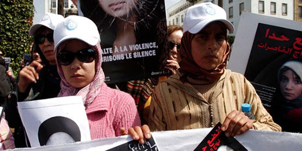 Manifestation contre le suicide d'Amina al-Filali, Rabat, mars 2012 © REUTERS/Youssef Boudlal