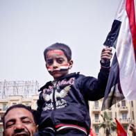 Sur la place Tahrir en Egypte © Maggie Osama