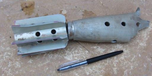 Douilles de munitions trouvées à Taftanaz, Syrie, le 22 avril 2012. © AI
