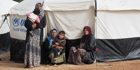 Un camps de réfugiés à Atmah, en Syrie. © AI