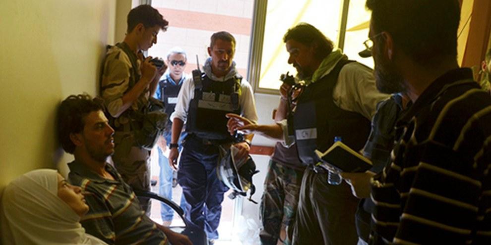 Des experts des Nations unies ont analysé le quartier de Zamalka, à Damas. © REUTERS/Bassam Khabieh
