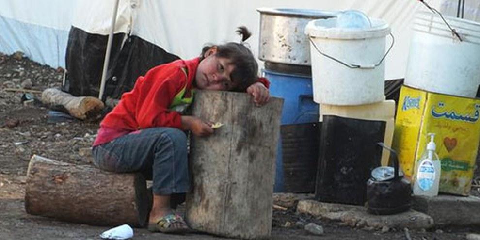 D'innombrables enfants souffrent de la faim en Syrie, où l'aide humanitaire ne peut opérer librement. © Lens Young Hamwi/Demotix