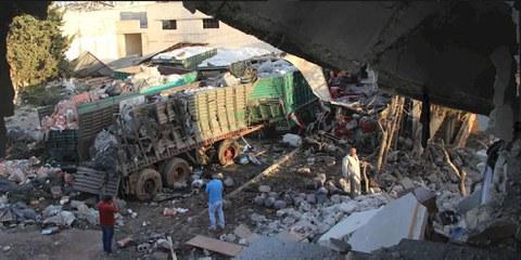 Attaque d'un convoi humanitaire près d'Alep